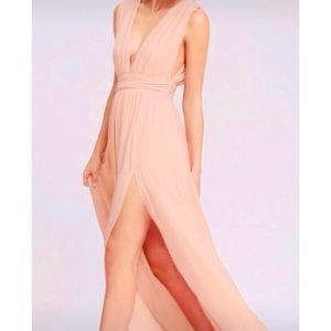 Lulu's Heavenly Hues Blush Pink Maxi Dress size S